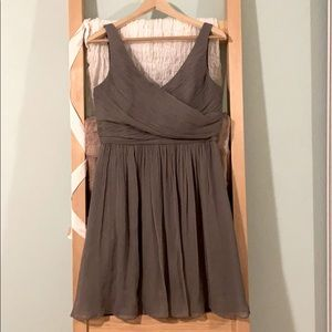 J crew grey bridesmaid dress